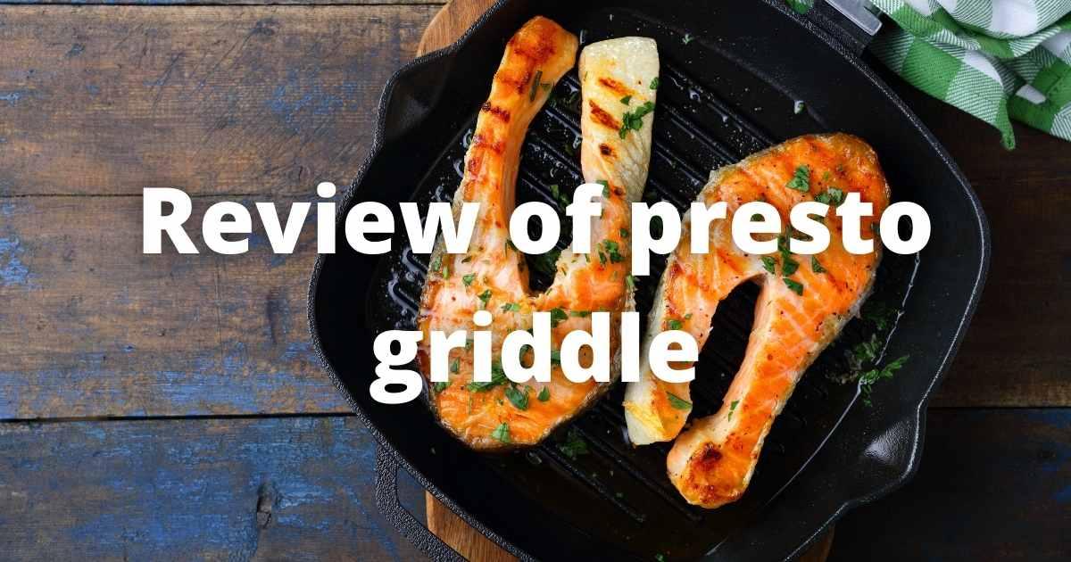 presto griddle review